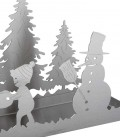 Stainless deco tray snowman & kids
