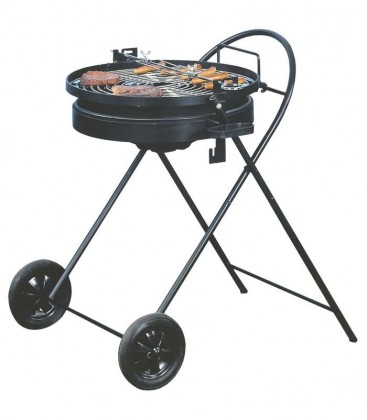 Charcoal grill PIKANTO, black & round