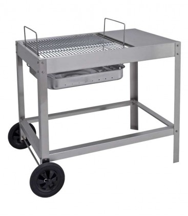 Stainless charcoal grill BELAMI, mobile