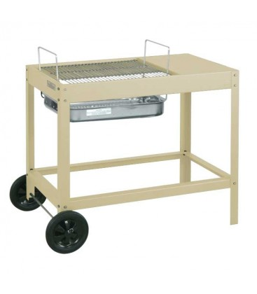 Charcoal grill BELAMI, beige & mobile