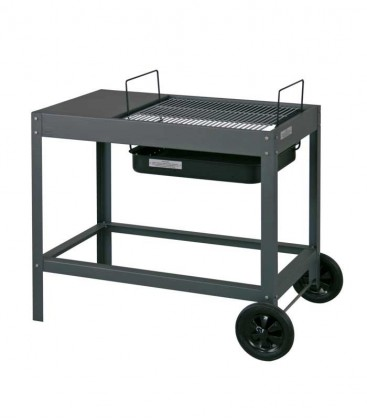 Charcoal grill BELAMI, grey & mobile