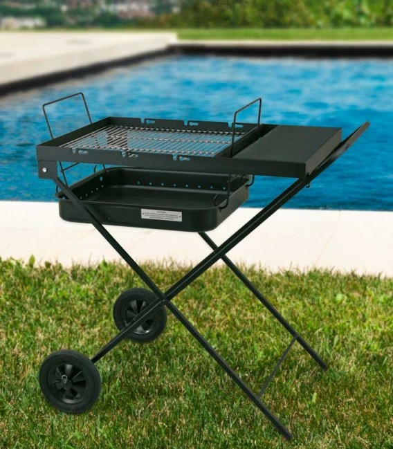 Charcoal grill black & mobile