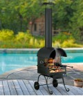 Barbecue chimney CAMINO, black retro-design