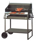 Charcoal grill FANTASTICO, black & mobile