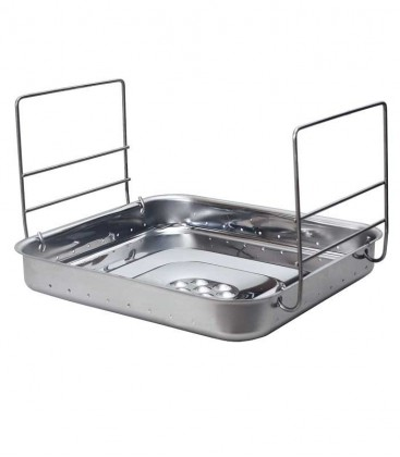 Stainless Charcoal Container, square