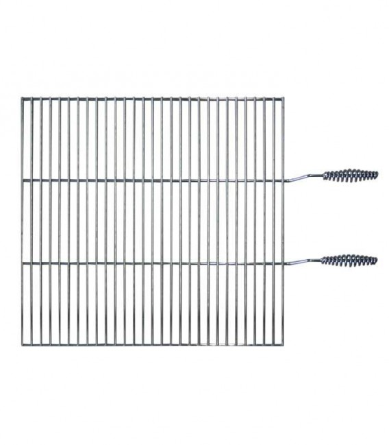 Cooking grate with handle chrome plated, 48 x 48 cm