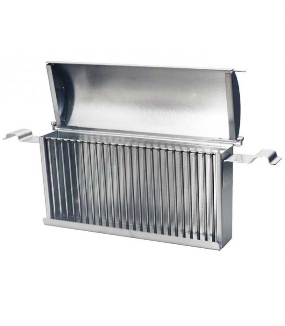 Stainless Side Charcoal Basket with Lid