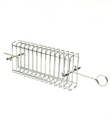 Rotisserie flat basket for grill grate 48 cm