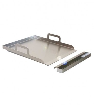Stainless Plancha Grill with Drip Tray Pan
