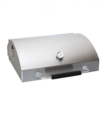 Stainless Charcoal Grill Lid with Thermometer