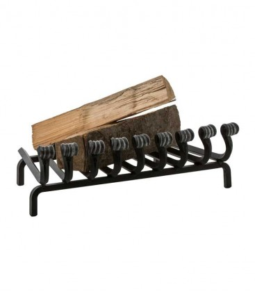 Decorative wrought iron fireplace grate