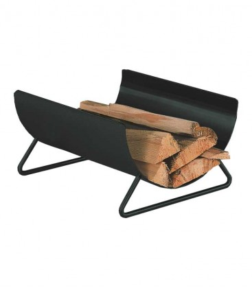 Curved wood holder black