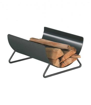 Curved wood holder anthracite