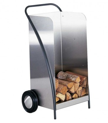 Stainless steel firewood trolley