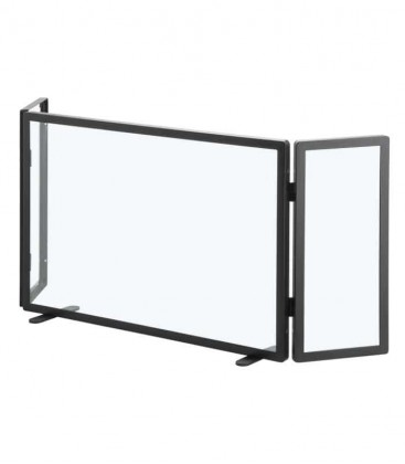 3 fold glass fire screen