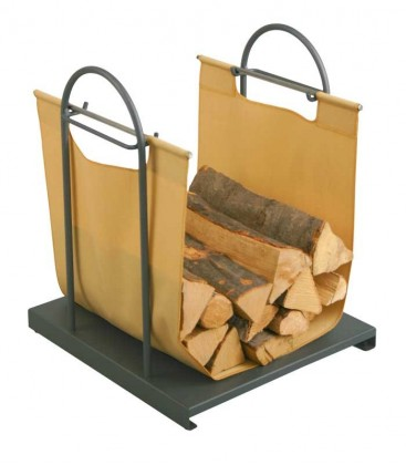 Log carrier with stand