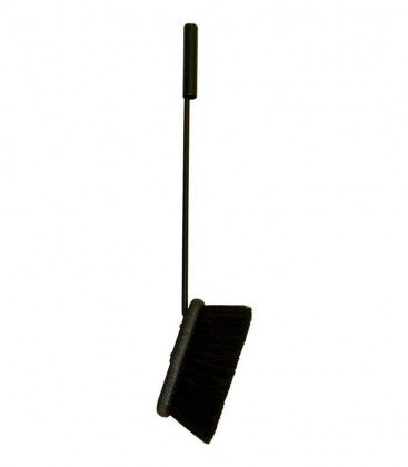 Fireplace Broom black, L 57 cm