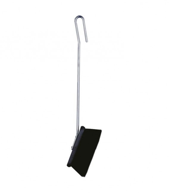 Stainless fireplace broom, 56 cm