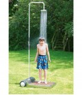 Mobile garden shower, stainless steel