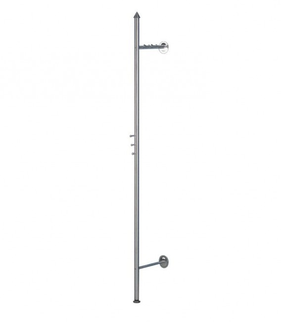 Wall mounted wardrobe, stainless steel