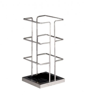 Squared stainless steel umbrella stand