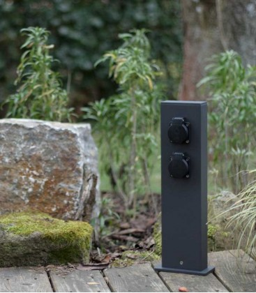 Graphite Outdoor Garden Socket