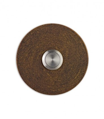 Round bell push SONITO, brown-gold
