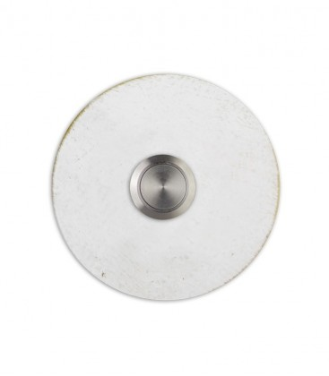 Round bell push SONITO, white-gold