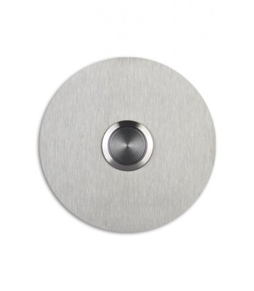 Round stainless steel bell push SONITO