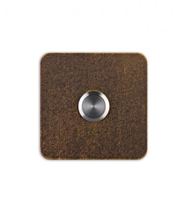 Square bell push TIPPO, brown-gold