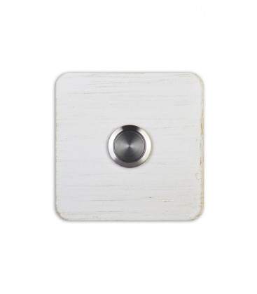 Square bell push TIPPO, white-gold
