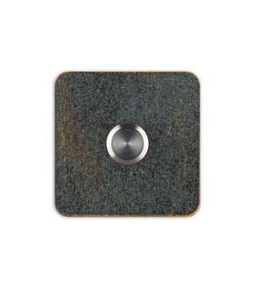Square bell push TIPPO, green-gold