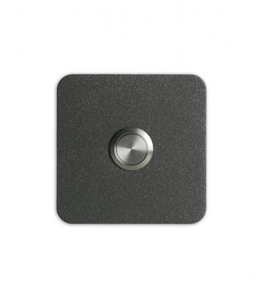 Square bell push TIPPO, graphite