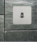 Square stainless steel bell push TIPPO
