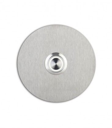 Round bell push SONITO, white illuminated push button