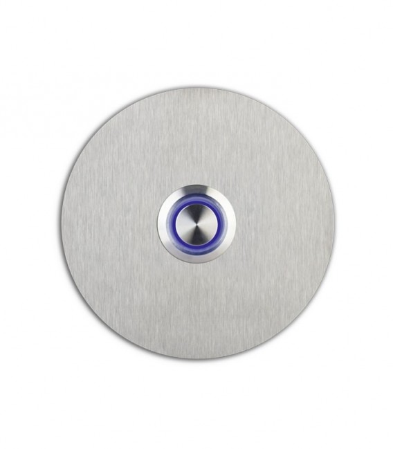 Round bell push SONITO, blue illuminated push button