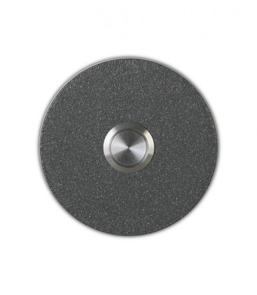 Round bell push SONITO, graphite