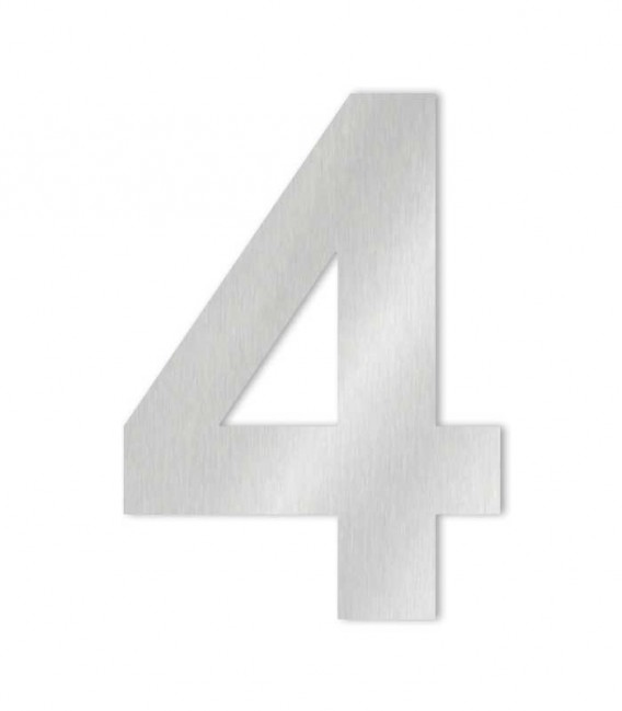 Stainless steel house number MIDI-XL 4