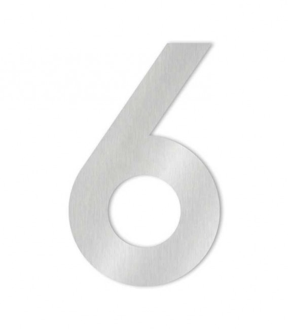 Stainless steel house number MIDI-XL 6