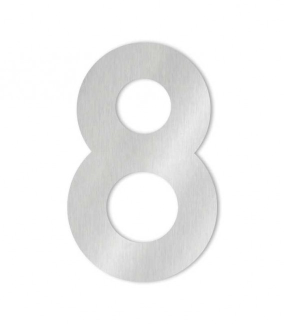 Stainless steel house number MIDI-XL 8
