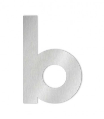 Stainless steel house number MIDI-XL letter b