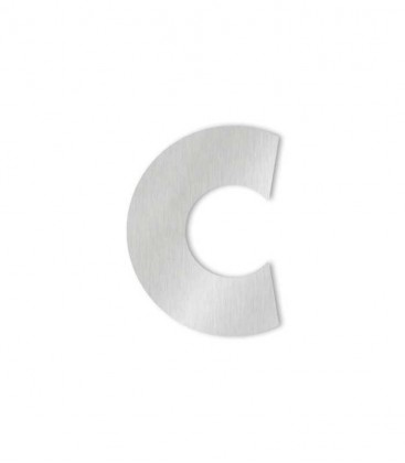 Stainless steel house number MIDI-XL letter c