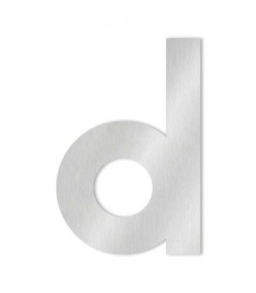 Stainless steel house number MIDI-XL letter d