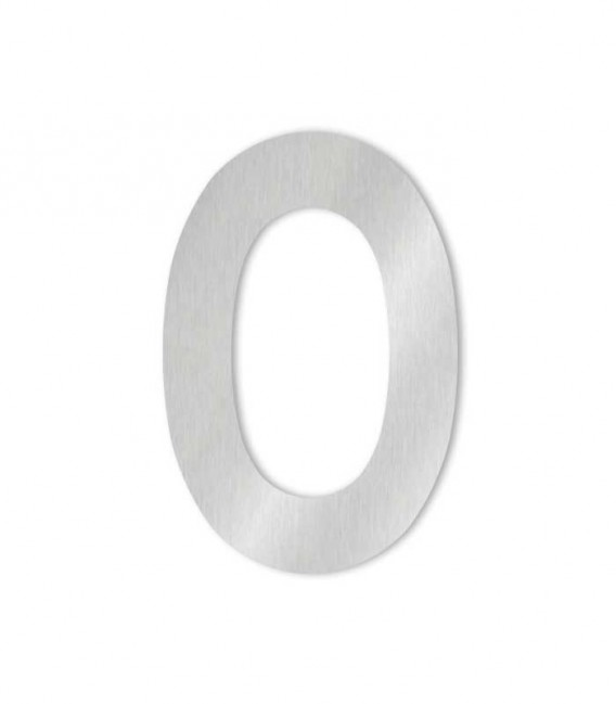 Stainless steel house number MIDI 0 for sticking