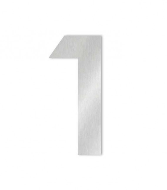 Stainless steel house number MIDI 1 for sticking