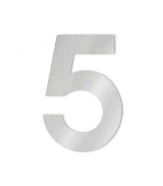Stainless steel house number MIDI 5 for sticking