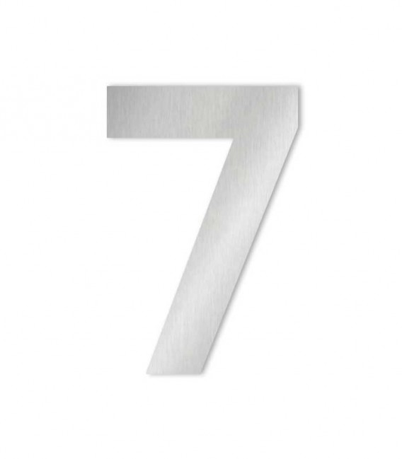 Stainless steel house number MIDI 7 for sticking