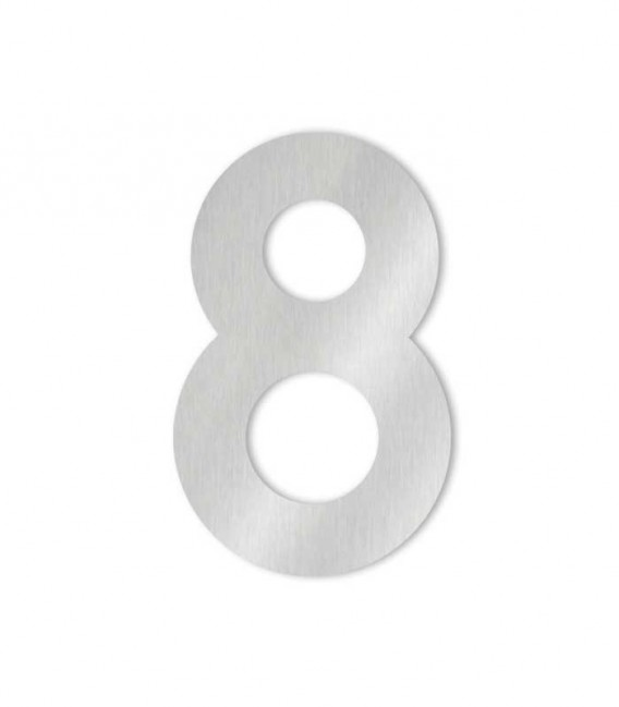 Stainless steel house number MIDI 8 for sticking