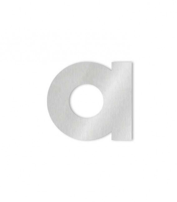 Stainless steel house number MIDI letter a for sticking