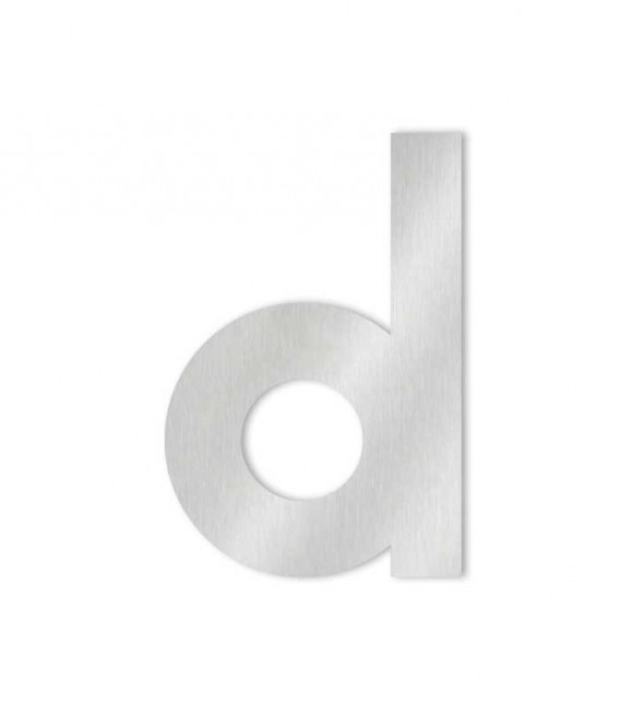 Stainless steel house number MIDI letter d for sticking